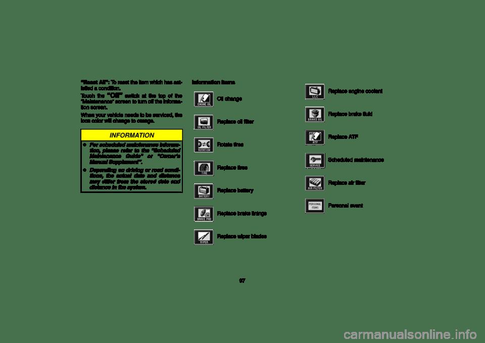 TOYOTA LAND CRUISER 2006 J100 Navigation Manual (189 Pages