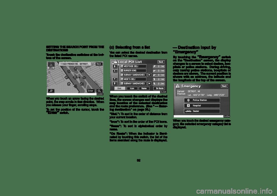 TOYOTA LAND CRUISER 2006 J100 Navigation Manual (189 Pages)