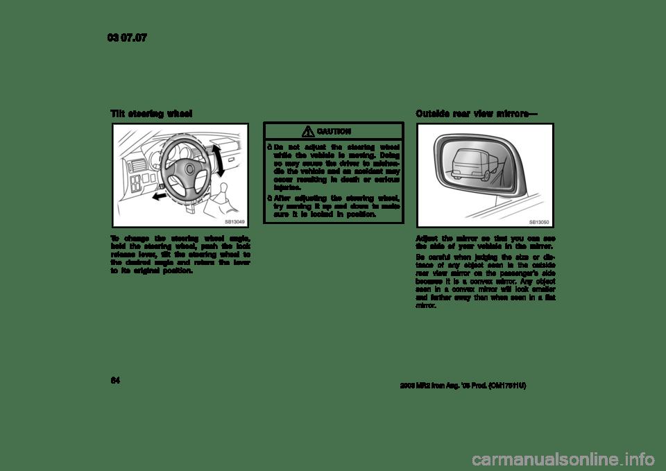 TOYOTA MR2 SPYDER 2003 W30 / 3.G Manual PDF (265 Pages)