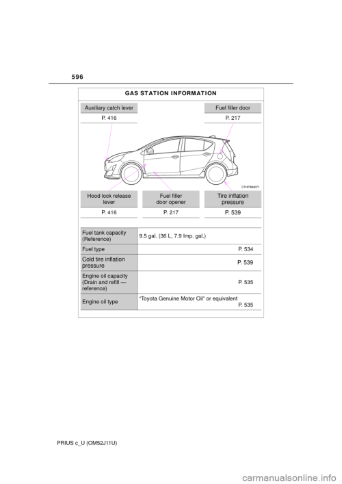 small resolution of toyota prius c 2017 nhp10 1 g owners manual page 596