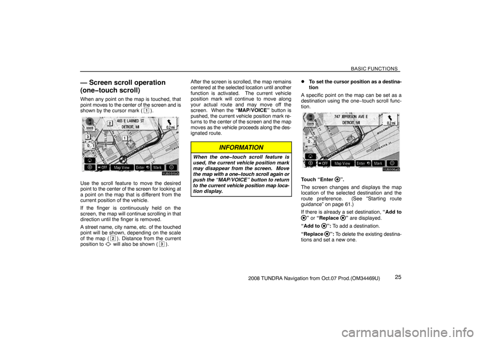TOYOTA TUNDRA 2008 2.G Navigation Manual