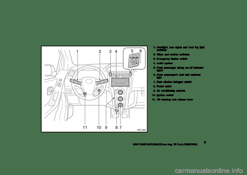 TOYOTA YARIS 2006 2.G Owners Manual