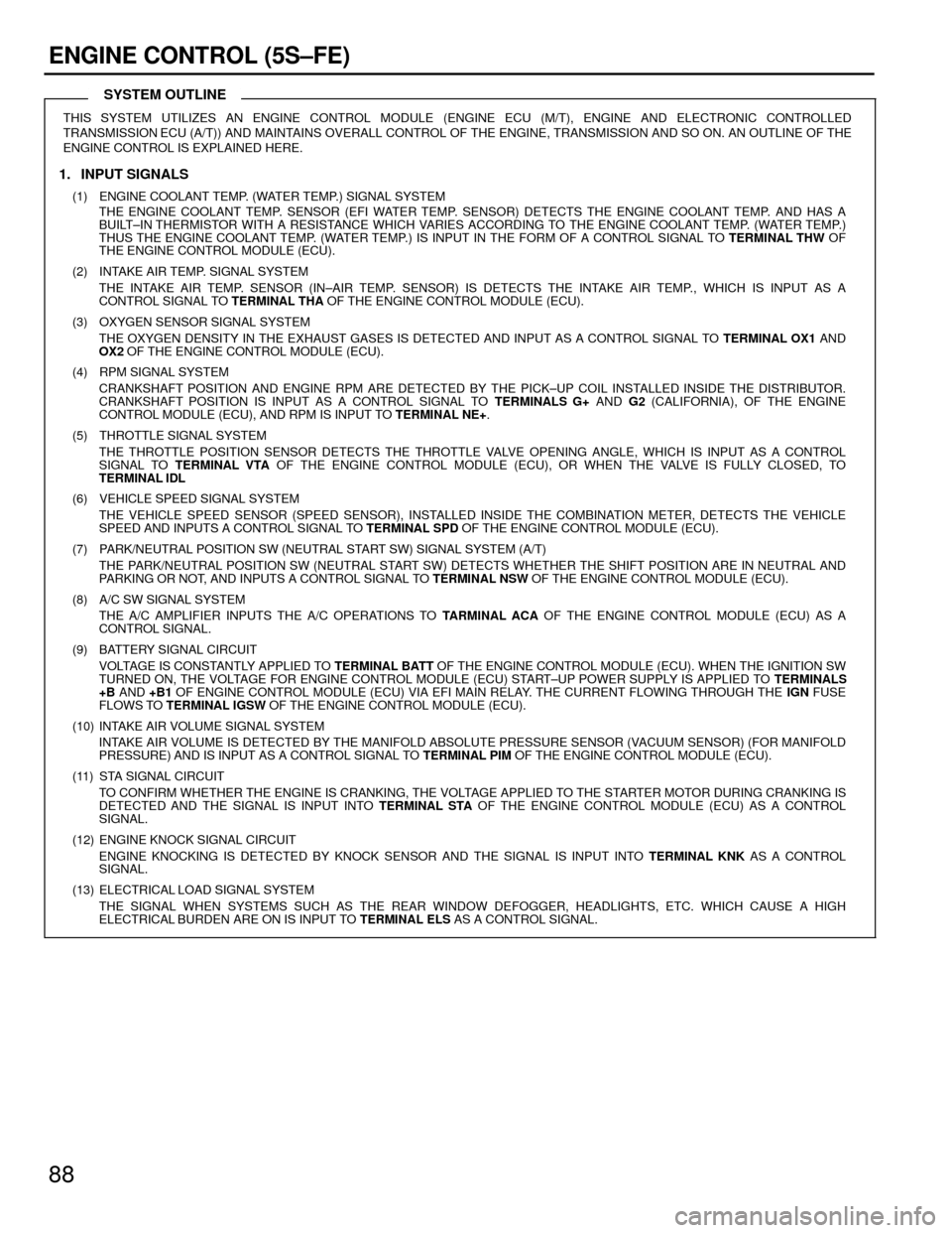 hight resolution of toyota camry 1994 xv10 4 g wiring diagrams workshop manual page 88