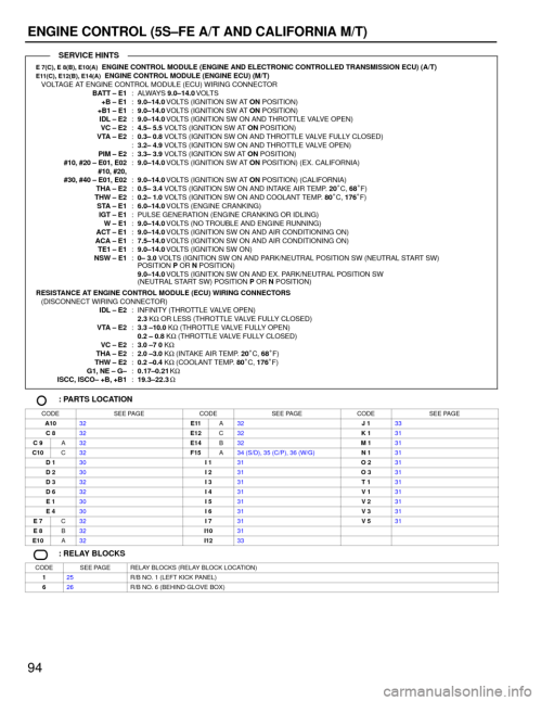 small resolution of toyota camry 1994 xv10 4 g wiring diagrams workshop manual page 94