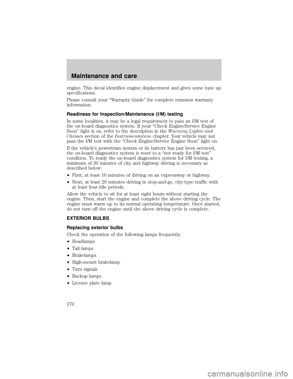 LINCOLN TOWN CAR 1999 Owners Manual