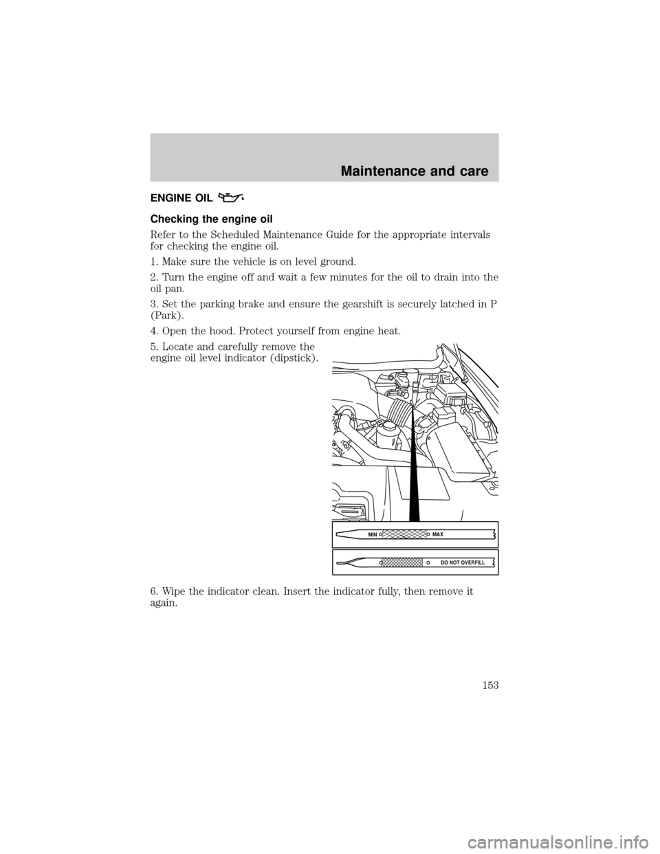 engine oil LINCOLN TOWN CAR 2000 Owners Manual (224 Pages)