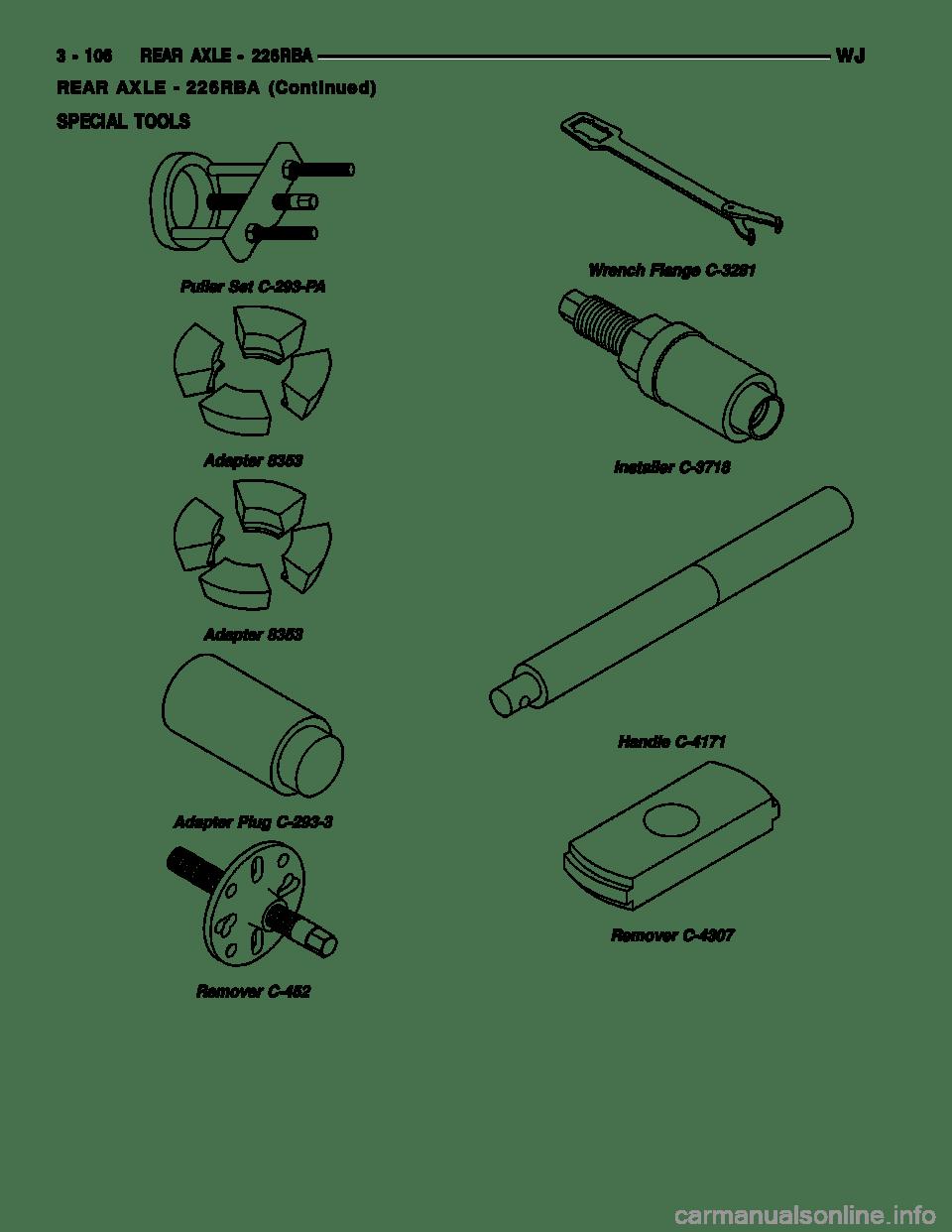 JEEP GRAND CHEROKEE 2002 WJ / 2.G Workshop Manual (2199