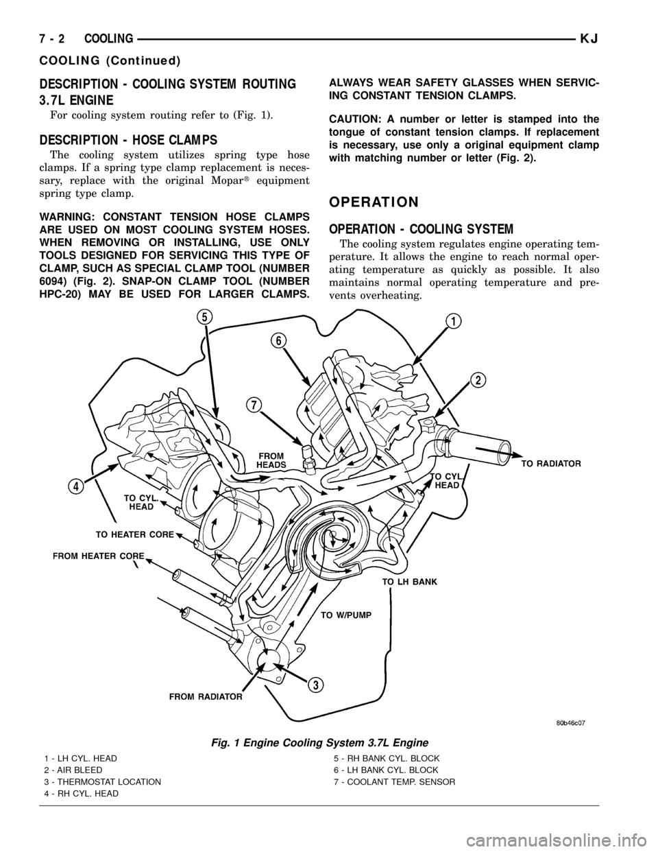 medium resolution of jeep liberty 2002 kj 1 g workshop manual page 217 description engine