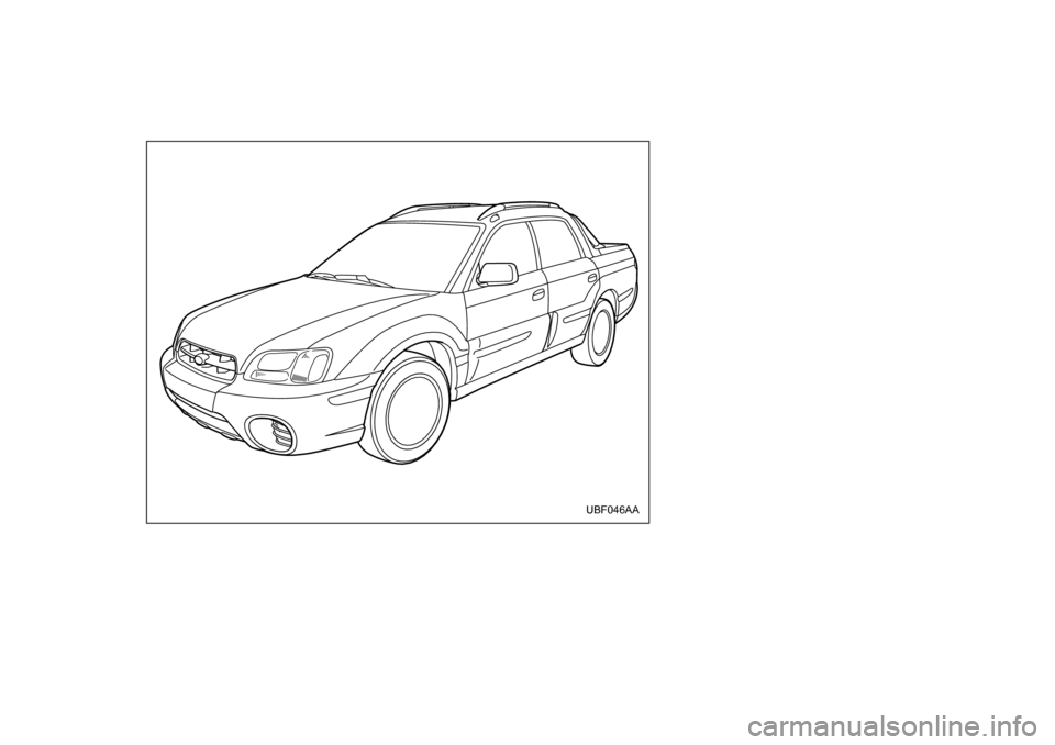 SUBARU BAJA 2006 1.G Owners Manual