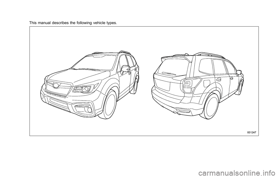 SUBARU FORESTER 2017 SJ / 4.G Owners Manual