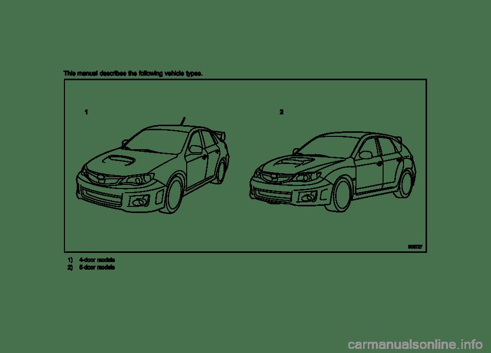 SUBARU IMPREZA WRX 2012 4.G Owners Manual