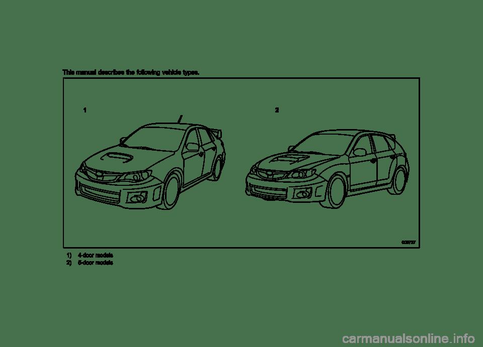 SUBARU IMPREZA WRX 2013 4.G Owners Manual