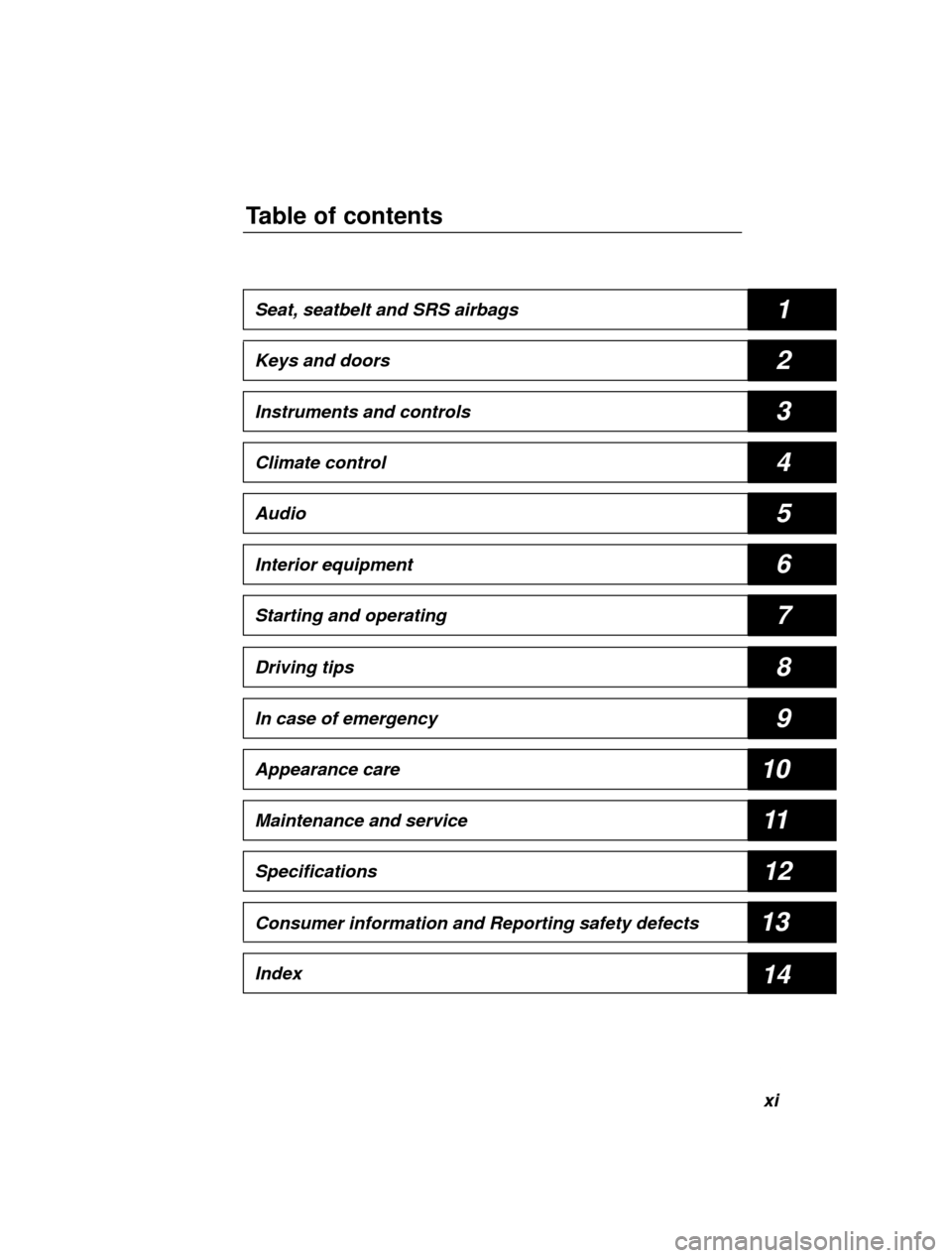 SUBARU LEGACY 2000 3.G Owners Manual