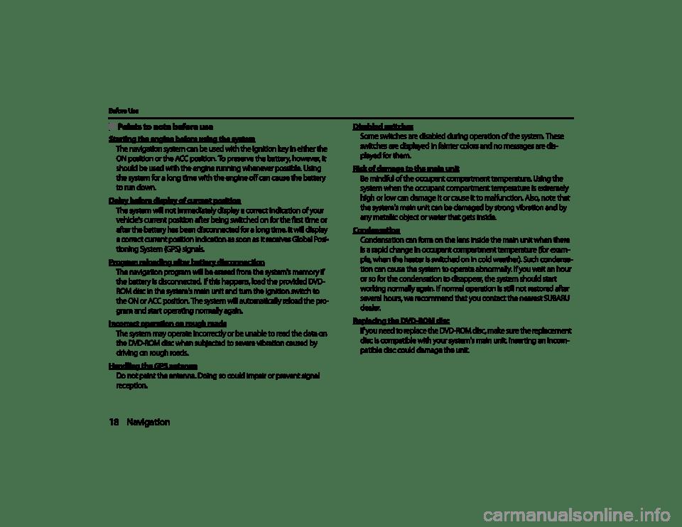 SUBARU LEGACY 2011 5.G Navigation Manual