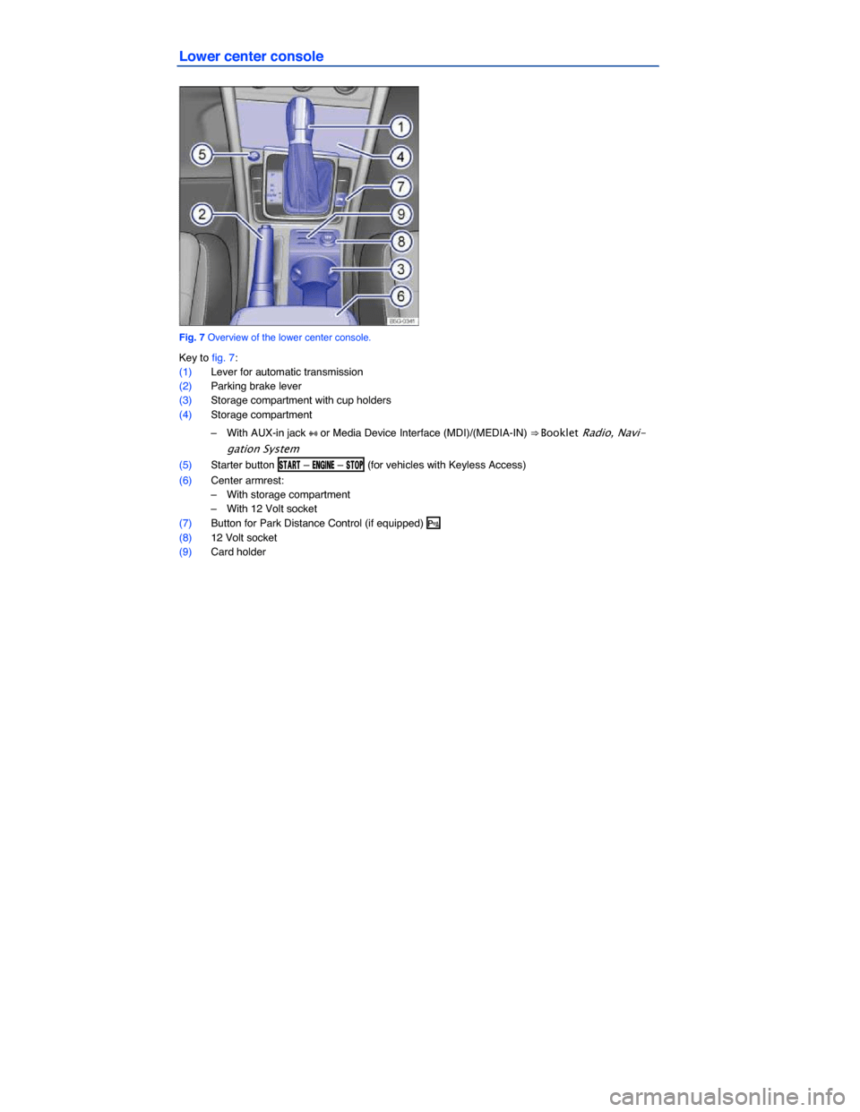 VOLKSWAGEN E GOLF 2015 5G / 7.G Owners Manual