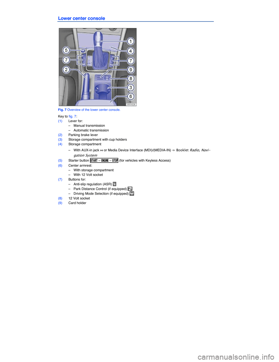 VOLKSWAGEN GOLF GTI 2015 5G / 7.G Owners Manual