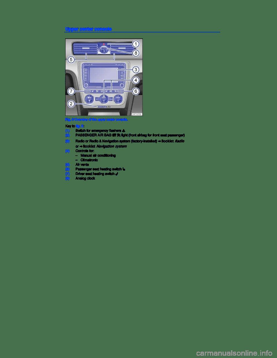 VOLKSWAGEN PASSAT 2015 B8 / 6.G Owners Manual