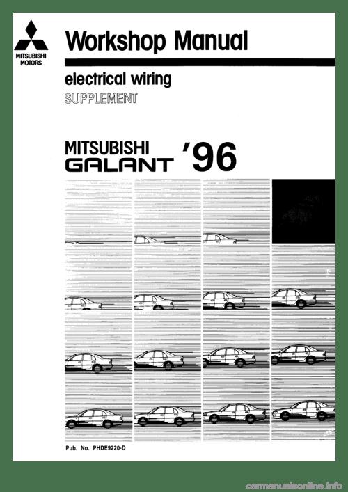 small resolution of mitsubishi car wiring diagram