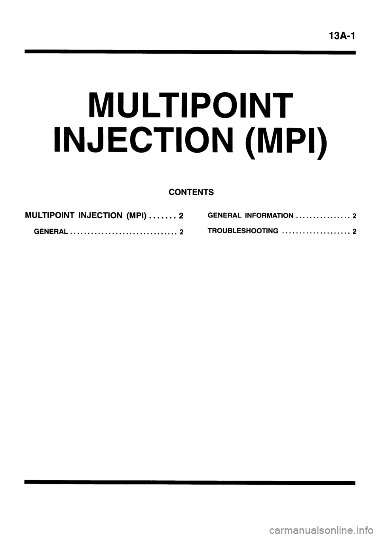 MITSUBISHI GALANT 1996 7.G Workshop Manual