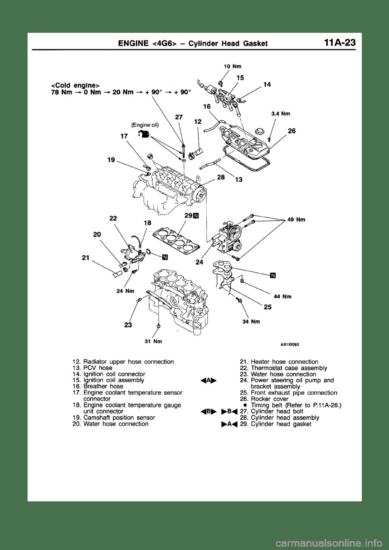 MITSUBISHI GALANT 1997 8.G Repair Manual (1206 Pages)