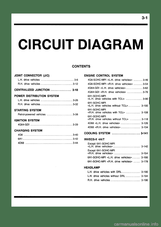 medium resolution of mitsubishi galant 1999 8 g electrical wiring diagram workshop manual