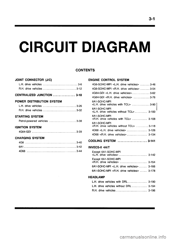hight resolution of mitsubishi galant 1999 8 g electrical wiring diagram workshop manual