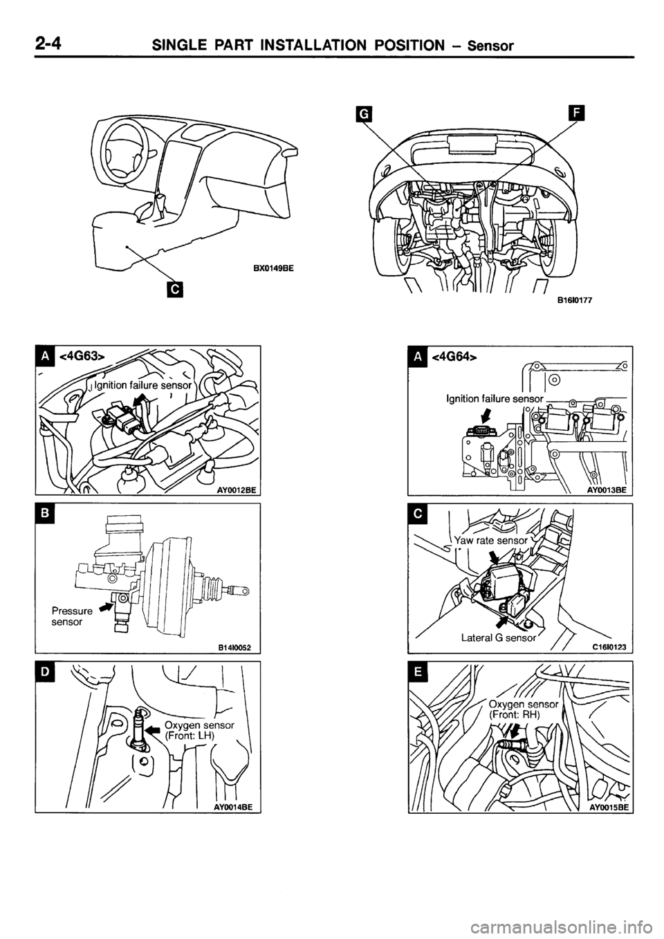 MITSUBISHI GALANT 2001 8.G Electrical Wiring Diagram