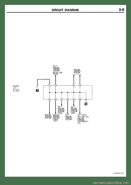 MITSUBISHI GALANT 2001 8.G Electrical Wiring Diagram