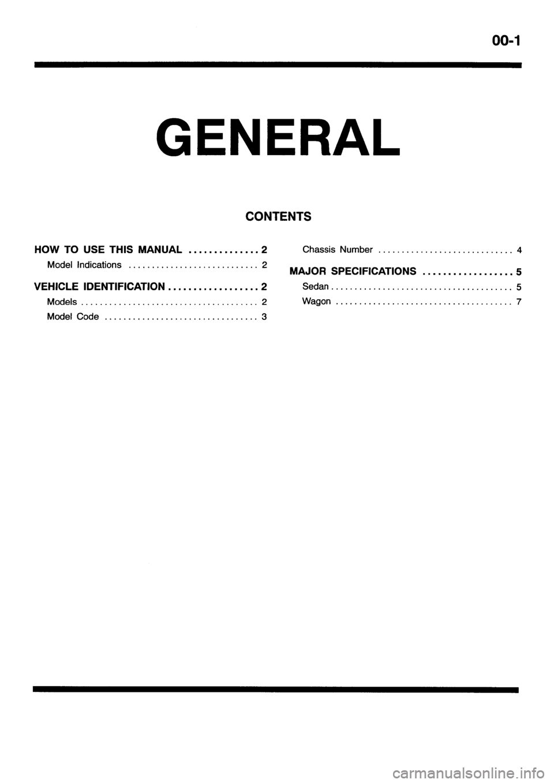 MITSUBISHI GALANT 2001 8.G Workshop Manual