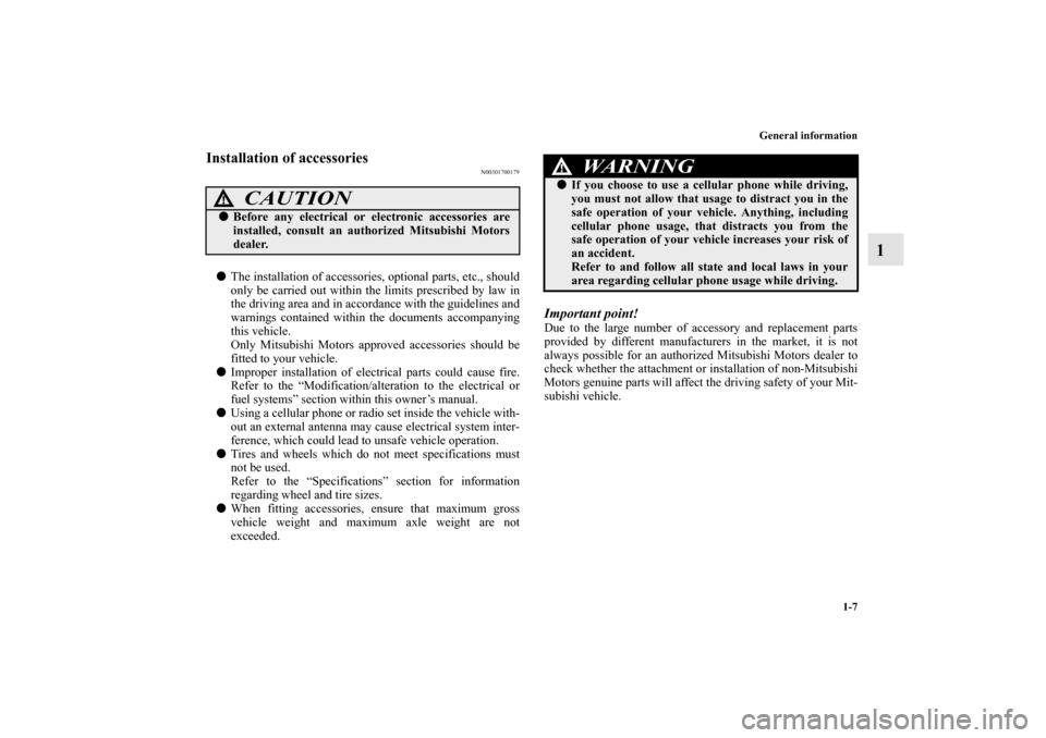MITSUBISHI GALANT 2012 9.G Owner's Manual (424 Pages)