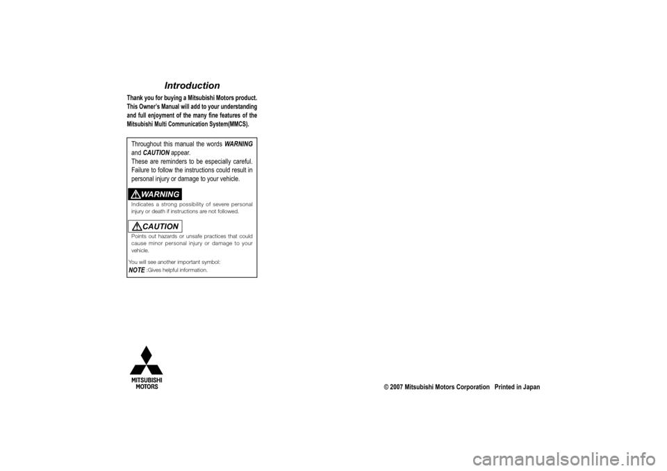 MITSUBISHI LANCER EVOLUTION 2010 10.G MMCS Manual