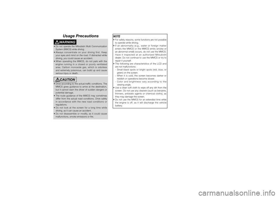 MITSUBISHI LANCER SPORTBACK 2010 8.G MMCS Manual