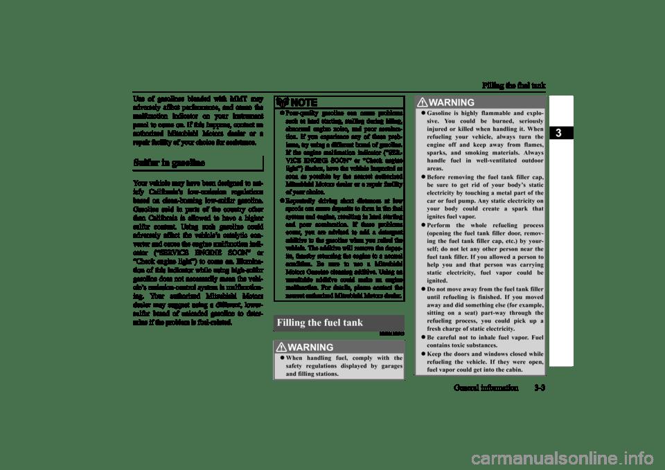 MITSUBISHI MIRAGE 2015 6.G Owners Manual