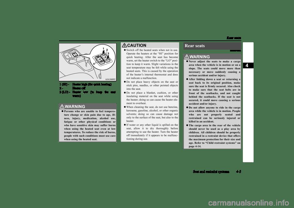 MITSUBISHI MIRAGE 2015 6.G Owner's Manual (300 Pages)