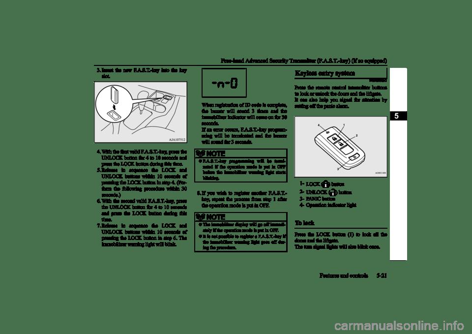 MITSUBISHI MIRAGE 2015 6.G Manual Online (300 Pages)