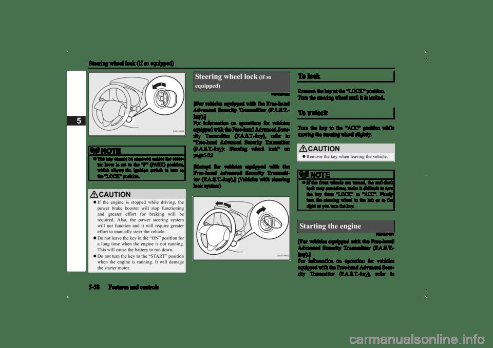 MITSUBISHI OUTLANDER 2014 3.G Owners Manual