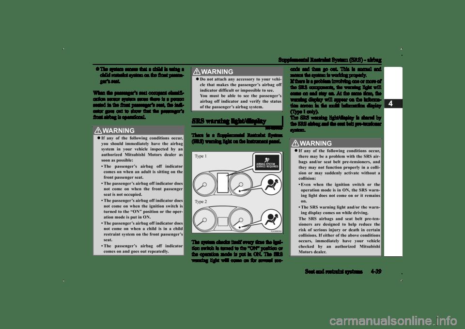 MITSUBISHI OUTLANDER 2014 3.G Repair Manual (451 Pages)