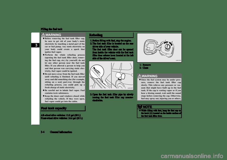 MITSUBISHI OUTLANDER 2016 3.G Owner's Manual (464 Pages)