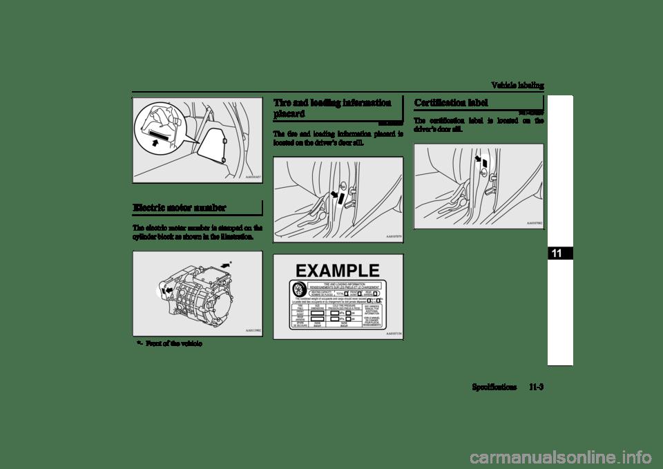 MITSUBISHI iMiEV 2017 1.G Owners Manual