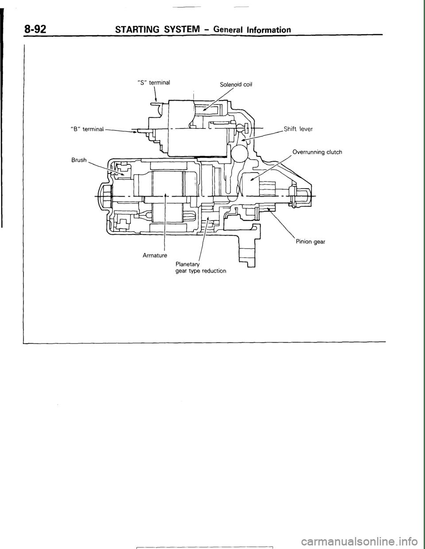 MITSUBISHI MONTERO 1987 1.G Workshop Manual (284 Pages