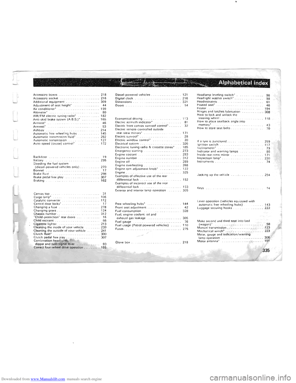 fuses MITSUBISHI PAJERO 1996 2.G Owners Manual (302 Pages)