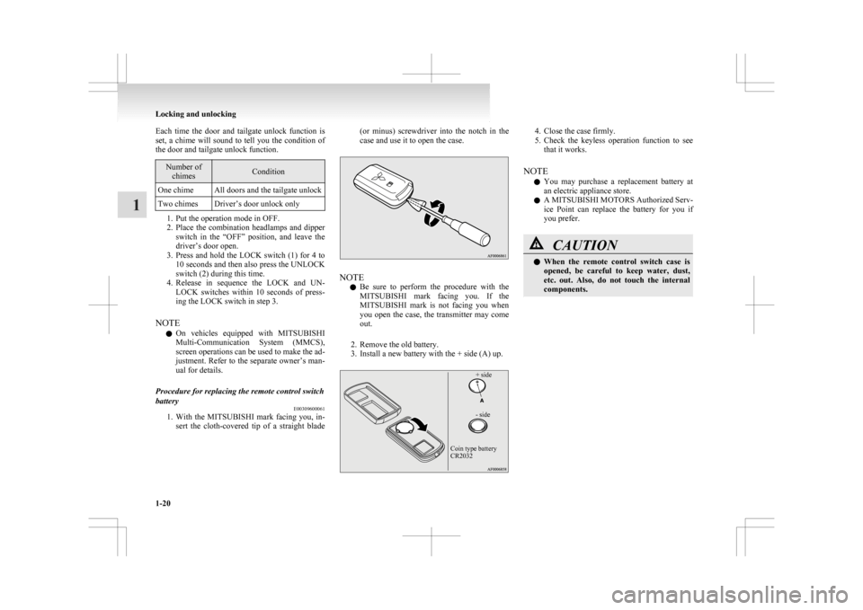 battery replacement MITSUBISHI ASX 2009 1.G Owners Manual
