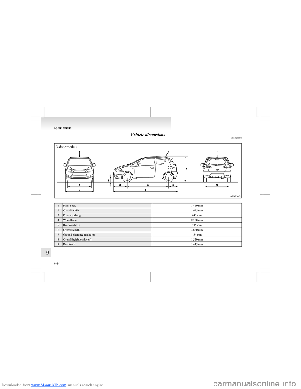 MITSUBISHI COLT 2009 10.G Owners Manual (273 Pages), Page
