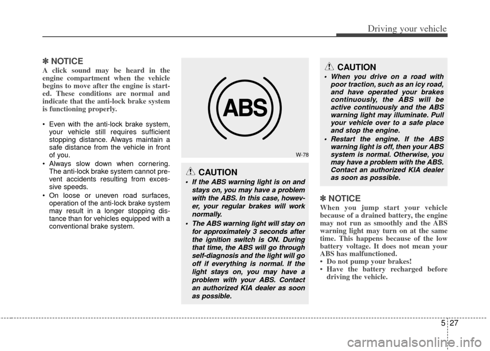 ABS KIA Cerato 2011 1.G Owner's Manual (342 Pages)