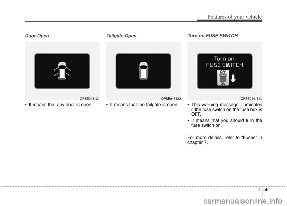 fuses KIA Soul EV 2016 2.G Owner's Manual