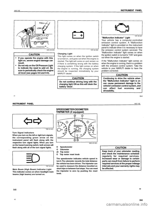 small resolution of suzuki baleno 1999 1 g owners manual page 20