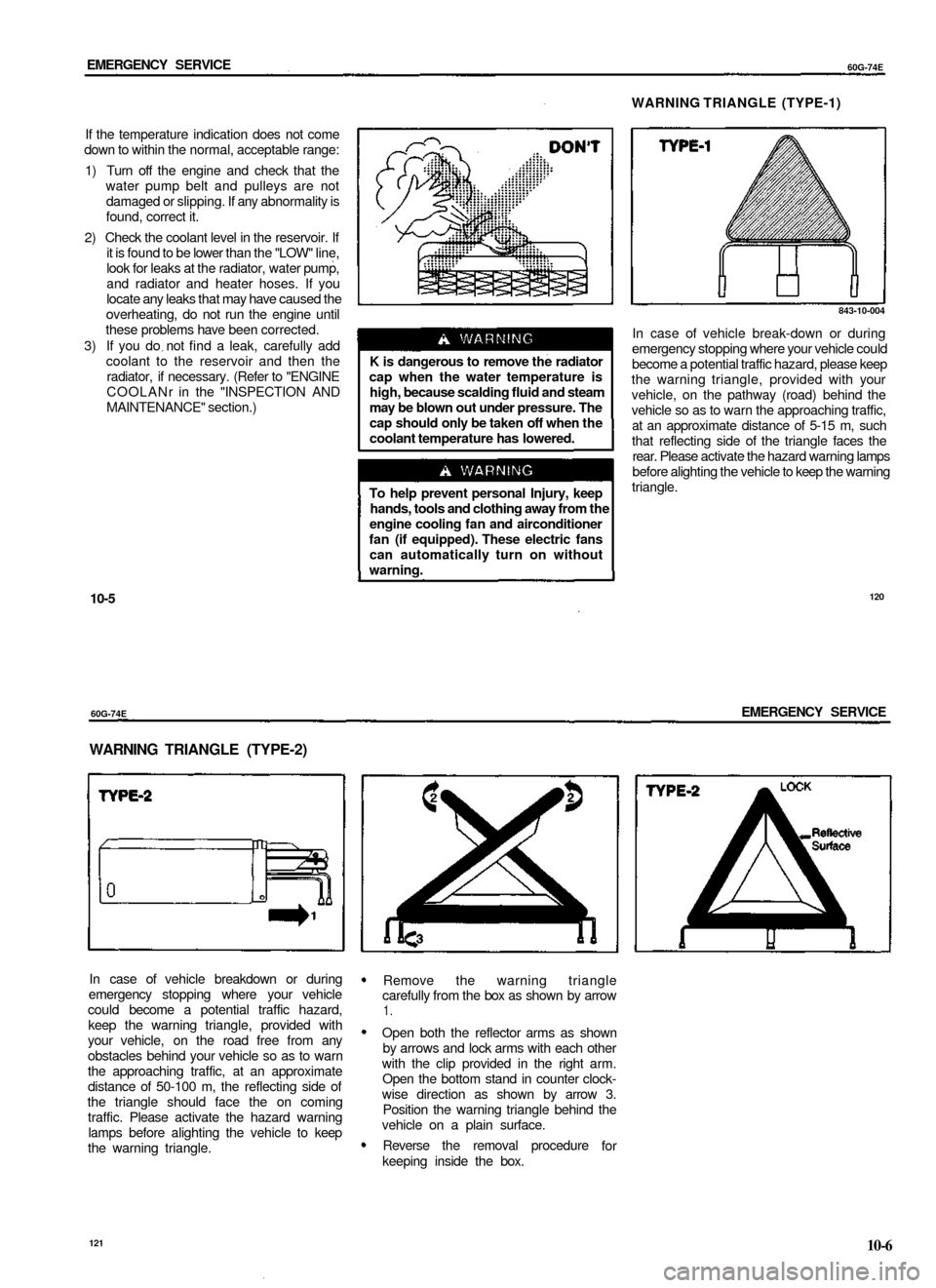 engine coolant SUZUKI BALENO 1999 1.G Owners Manual (65 Pages)