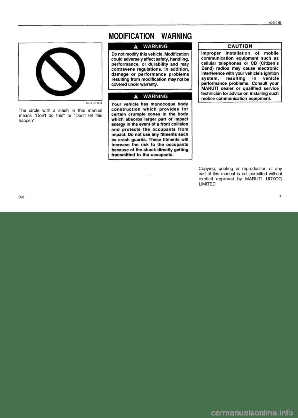 SUZUKI BALENO 1999 1.G Repair Manual (65 Pages)
