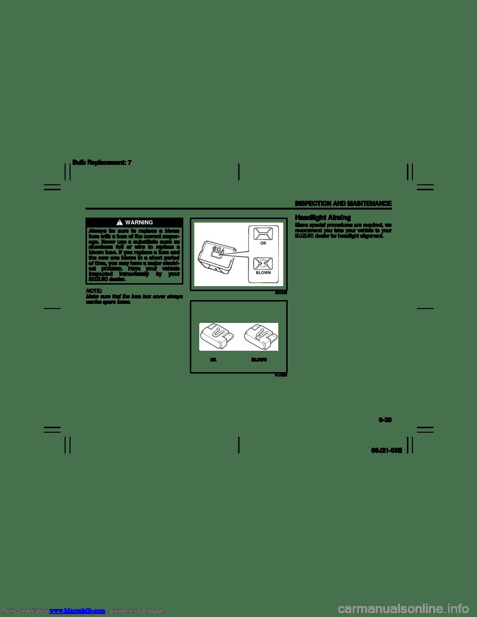 medium resolution of suzuki grand vitara 2007 3 g owners manual page 176