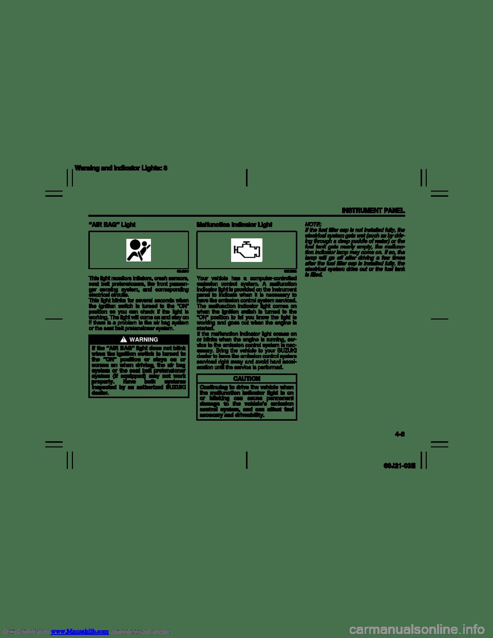 SUZUKI GRAND VITARA 2007 3.G Repair Manual (211 Pages)